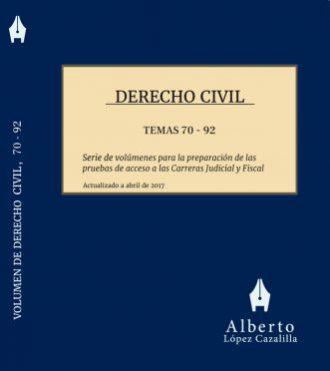 Portada del tomo cuarto de Derecho Civil. Temas 70 a 92