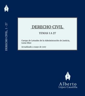 Portada del libro de Derecho Civil, tomo primero, temas 1 a 27, para Letrados de la Administración de Justicia