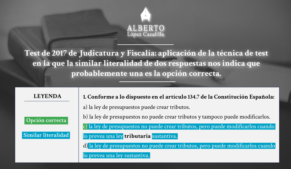 test de Jueces y Fiscales, técnica de test basada en similares respuestas