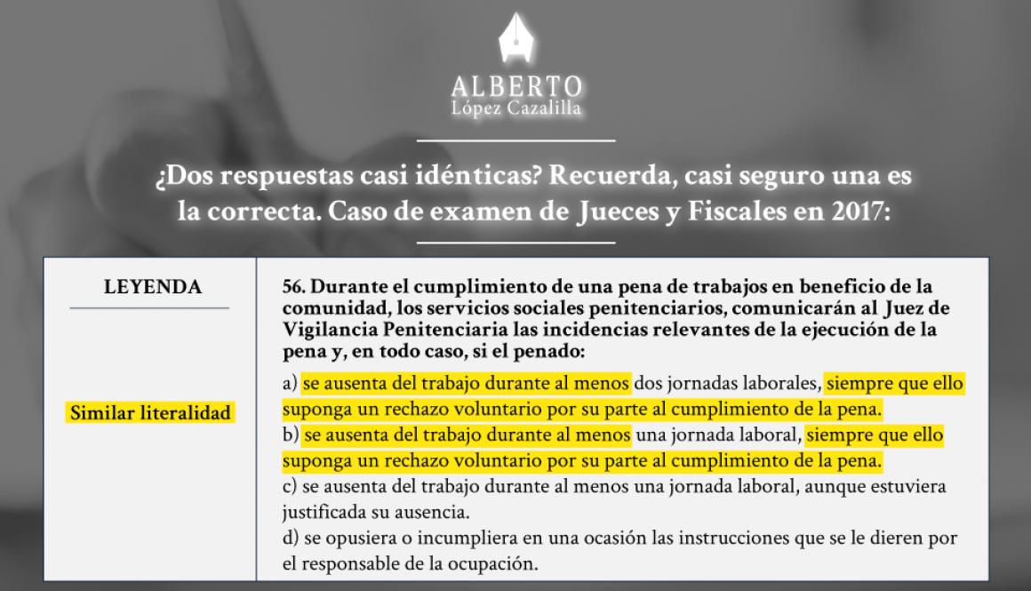 Examen judicatura y fiscalía 2017. Oposiciones jueces y fiscales, caso de examen y aplicación de técnica de test