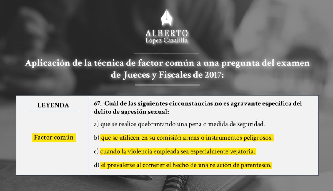 Ejemplo de técnica de test aplicada al examen de oposiciones de jueces y fiscales de 2016