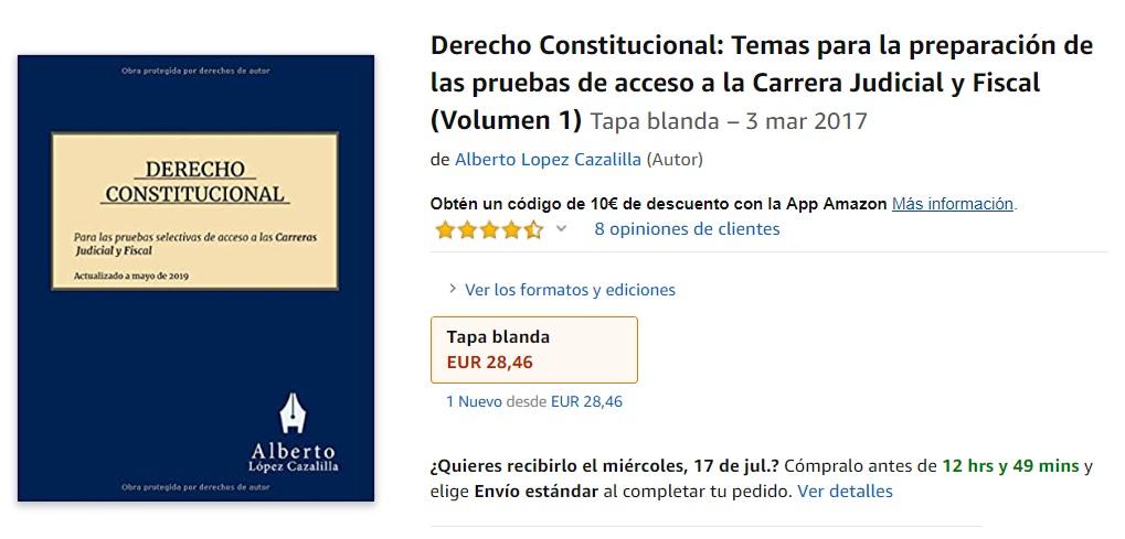 Compra manual judicatura fiscalía alberto lopez cazalilla Amazon